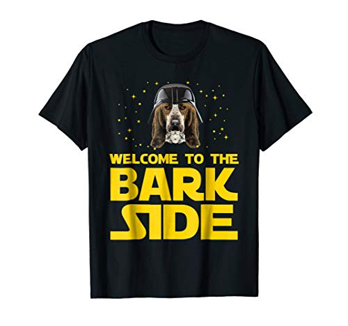 (Welcome to the Bark Side of Basset Hound Funny T shirt)