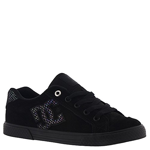 DC Women's Chelsea SE Skate Shoe, Silver/Black, 6.5 Medium US