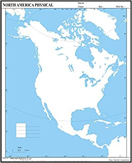 Amazon.in: Buy IMH NORTH AMERICA Physical Practice Map (A4 ...