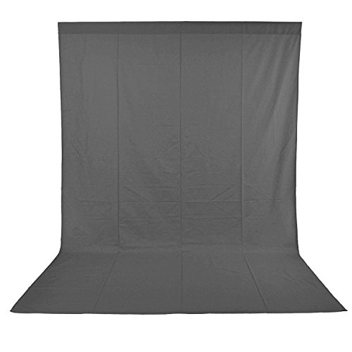 LDGHO Gray 6x9 feet/1.8x2.8 Meters Photo Studio Muslin Collapsible Backdrop Background for Photography, Video and Television (Background Only) from Longda