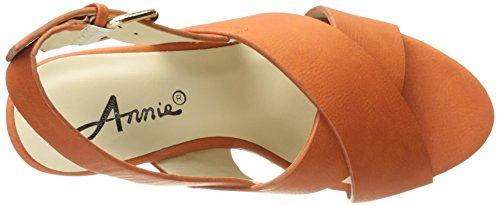Scarpe Annie Donna Hypo Drive Espadrillas Sandalo Con Zeppa Color Ruggine