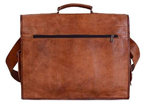 ae8fd1afd58b KPL 18 Inch Rustic Vintage Leather Messenger Bag Leather Laptop Bag ...