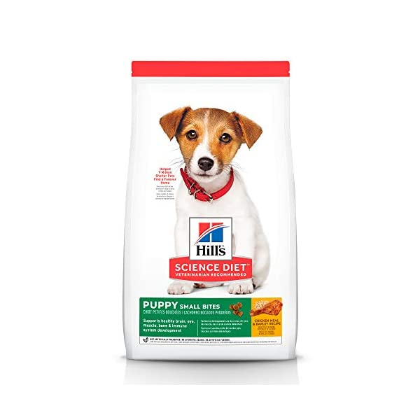 Hill's Science Diet Dry Dog Food, Puppy, Small Bites, Chicken Meal & Barley Recipe, 15.5 lb Bag