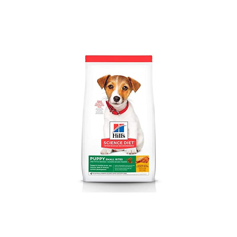 dog supplies online hill's science diet dry dog food, puppy, small bites, chicken meal & barley recipe, 15.5 lb bag