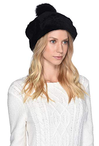 Ugg Shearling Hat - UGG Women's Up Flap Water Resistant Sheepskin Hat Black One Size