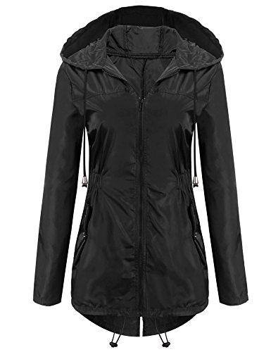 Unibelle Womens Rainwear Active Outdoor Hooded Cycling Packable and Lightweight Jacket