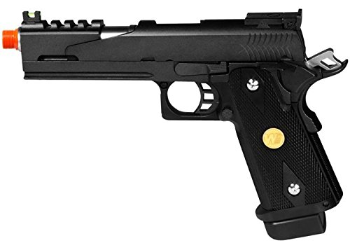 we hi-capa 5.1 dragon type b black metal pistol airsoft gun(Airsoft Gun) by WE