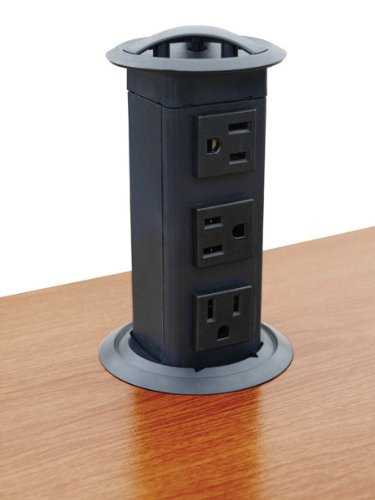 Amazon.com: Power Pop Up Station, Three Outlets, Plastic, Black: Home  Improvement