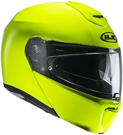 HJC 101504l Casco Moto Negro//Verde Ne/ón L