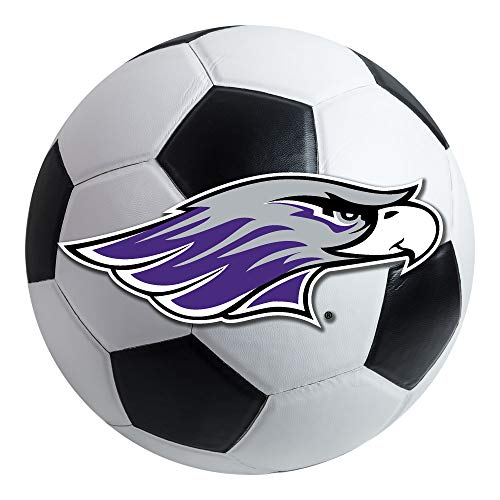 FANMATS NCAA Univ of Wisconsin Whitewater Warhawks Nylon Face Soccer Ball Rug