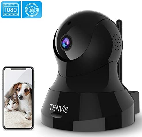 TENVIS Indoor Security Camera – 1080P HD Home Security Camera with 32 FT Night Vision, 2-Way Audio, Sensitive Motion Detection, PTZ, Real-Time Surveillance for Baby Pet.