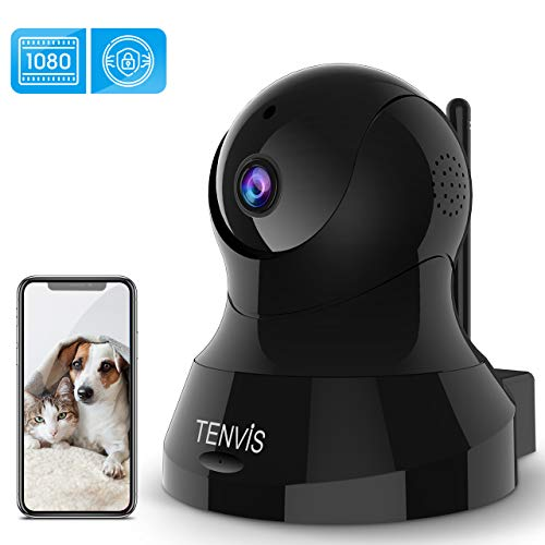 🥇 TENVIS Indoor Security Camera – 1080P HD Home Security Camera with 32 FT Night Vision