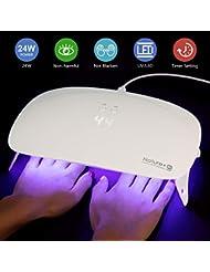 SEXY MIX UV LED Nail Lamp - Portable Folding 24W Nail...