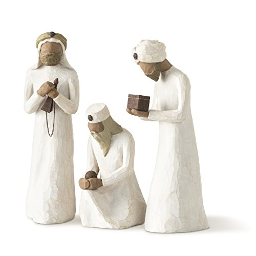 - Willow Tree 8.5-Inch Resin and Metal The Three Wisemen for the Nativity Figurines