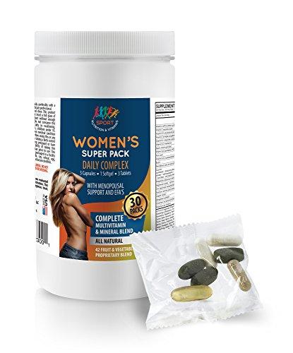 Energy vitamin supplement for women - WOMEN'S DAILY PACK COMPLEX - Cla for women - 1 Bottle (30 ()