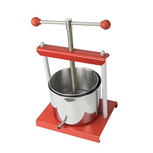 EJWOX 0.53 Gallon Stainless Steel Soft Fruit Wine Juice Press Cheese Making Press Tincture Press Herbal Press by EJWOX