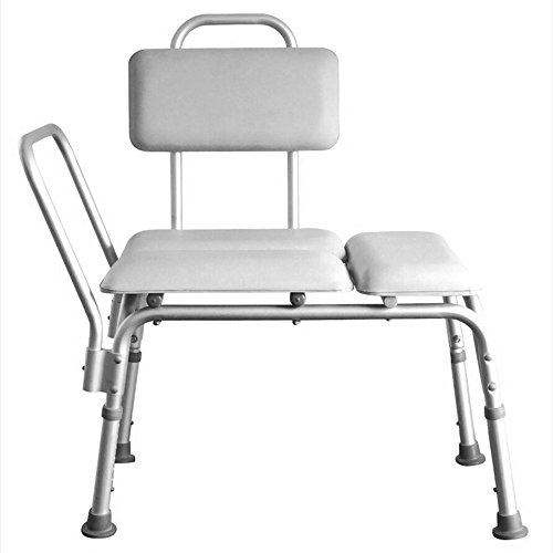 Mefeir Bath Chair Shower Chair Seat Bench with Arms and Backs, 3 Blow Molding Plates Aluminium Alloy 6 Height Adjustable, for Seniors Elderly Baby Bathtub Lift Chair Comfortable (Soft Mat ()