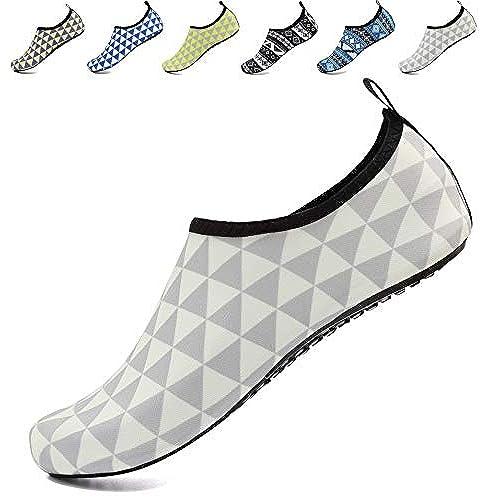 4ab8aff3fc8ca8 AoSiFu Barefoot Water Shoes Aqua Socks Surf Pool Yoga Beach Swim Exercise  for Mens and Womens
