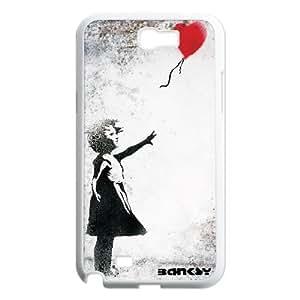 Banksy Art Graffiti Girl balloon for Samsung Galaxy Note 2 N7100 Case Cover RCX033626