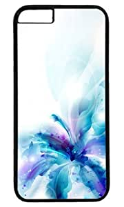 Blue Flower Custom Masterpiece Limited Design Case for iPhone 6 Plus PC Black by Cases & Mousepads