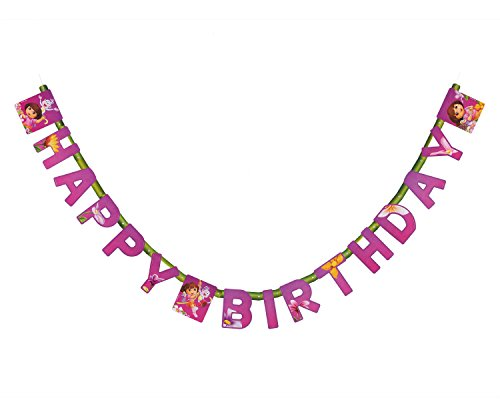 American Greetings Dora The Explorer Birthday Banner Party