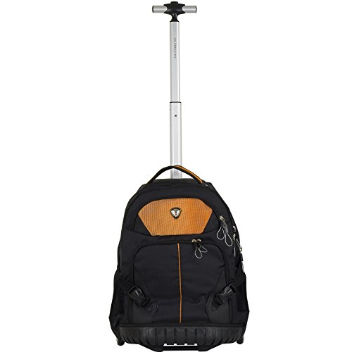 CALPAK Porcia Burnt Orange 19-inch Rolling 13-inch Laptop Backpack