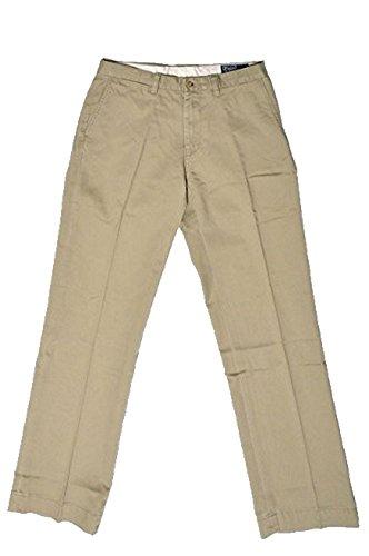 (Polo Ralph Lauren Mens Classic Fit Flat Front Chino (Hudson Tan Khaki, 31x30))