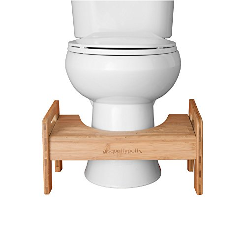 Squatty Potty The Original Adjustable Height Bathroom Toilet Stool- Tao Bamboo by Squatty Potty (Image #3)
