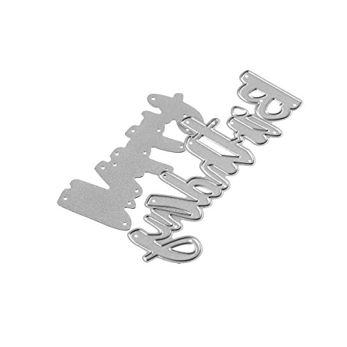 Happy Birthday Words Metal Cutting Dies Stencils for DIY Scrapbooking Photo Album Embossing Paper Cards Crafts (A) by DOULY (Image #4)