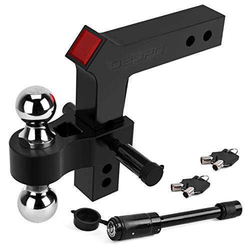 Buy Bargain oEdRo Adjustable Trailer Hitch Ball Mount/Forged Aluminum Shank, 2 Receiver/8 Drop 2 ...