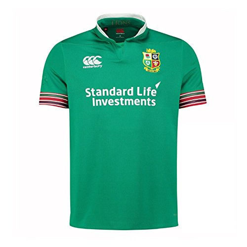 2016-2017 British Irish Lions Rugby Pro Training Jersey (Green) (Rugby Lions Shirt)