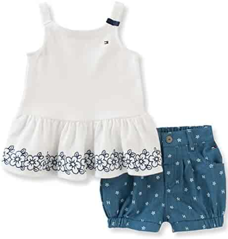 Tommy Hilfiger Girls' 2 Pieces Short Set-Eyelet
