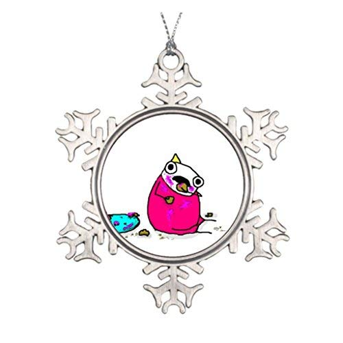 Dozili Hyperbole and A Half Allie Brosh Metal Snowflake Pewter Round Christmas Ornament Pendant (For Hyperboles Christmas)