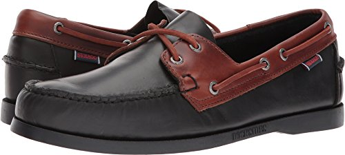 Sebago  Men's Spinnaker Black/Brown Oiled Waxy 7.5 M US - Dockside Collection