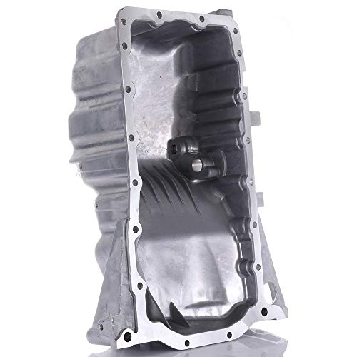 SCITOO Compatible with 264-725 Engine Oil Pan Steel Assembly Fits 02-06 1.8L 2.0L 3.2L Cummins Diesel Audi A4 Quattro Pickup Truck ()