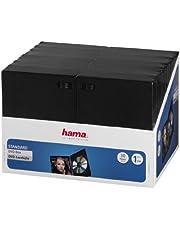 Hama dvd-hoezen (ook geschikt voor cd's en Blu-rays, met folie voor het insteken van de cover) verpakking van 30, zwart