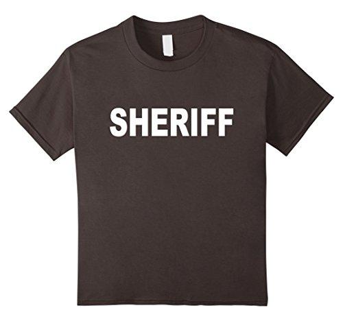 Color Guard Costumes Uniforms (Kids Sheriff T-shirt Fashion Guards Uniform Unisex Top Tee 10 Asphalt)