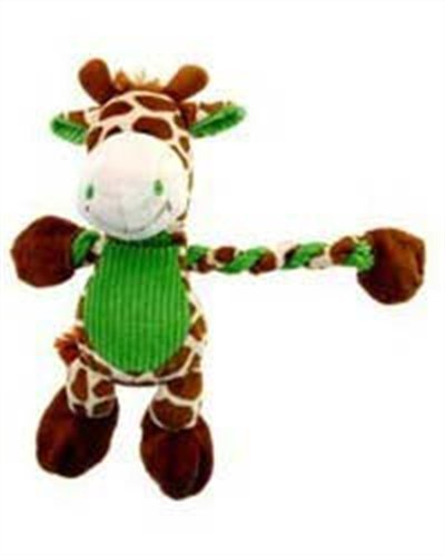 Charming Pet Products Pulleez Giraffe Plush Dog Toy, My Pet Supplies