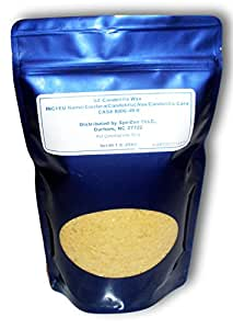 SZ Double Refined Candelilla Wax (Beeswax Substitute for Vegans) 1 Lb. For DIY cosmetics.