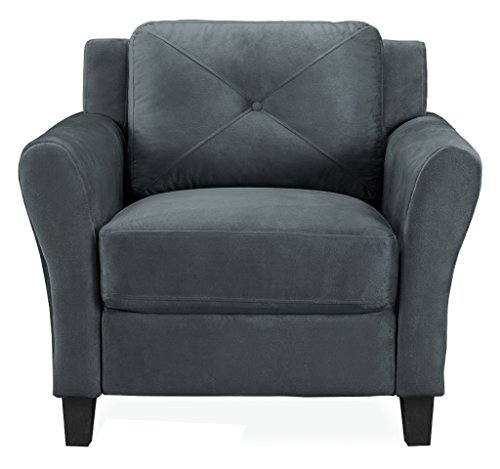 Lifestyle Solutions Harrington Chair in Grey, Dark Grey