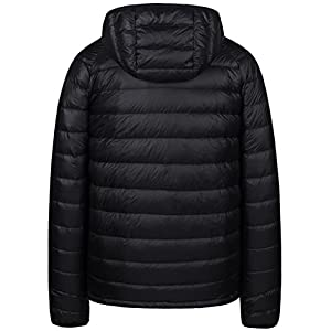 Wantdo Men's Packable Insulated Light Weight Hooded Puffer Down Jacket(Black,M)