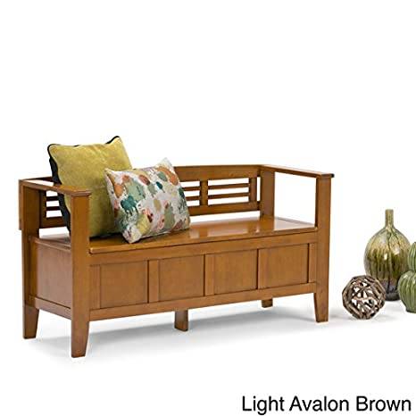 Stupendous Amazon Com Chandler Entryway Storage Bench Light Avalon Theyellowbook Wood Chair Design Ideas Theyellowbookinfo