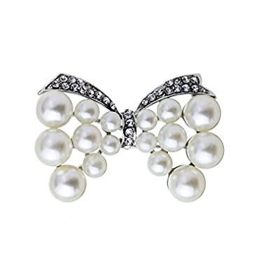 Discount YAZILIND Aristocratic Elegant Imitation Tone Bow Brooch Pin Gift supplier