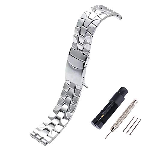 Choco&Man US Swatch Quick Release Bracelet Watch Band Strap Stainless Steel Strap Wrist Band Replacement Watch Bands Watch Width 19mm Replacement for Men's Swatch with Tool
