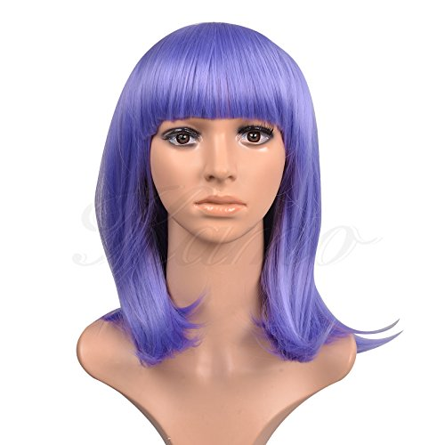 Bangs Shoulder-Length Straight Women & Girls Cosplay Party Wig (Lavender) ()