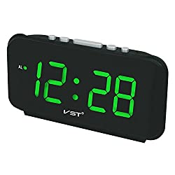 Big Numbers Digital Alarm Clocks AC Power Electronic Table Clocks With 1.8 inch Large LED Display Home Decor