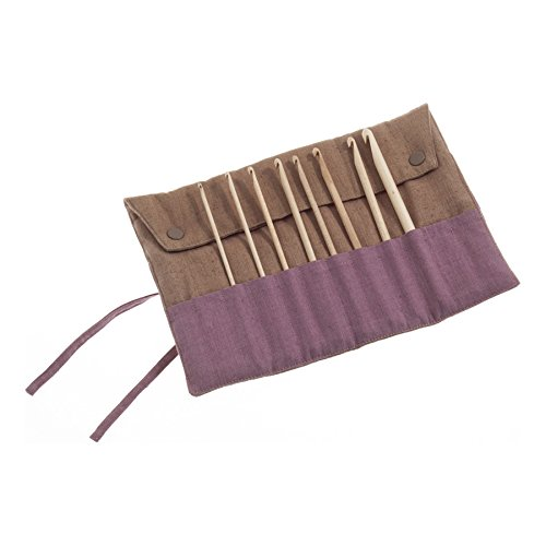 Pony P32801 | 15cm Maple Crochet Hooks Set in Fabric Case 8 Sizes 3mm - 8mm by Pony