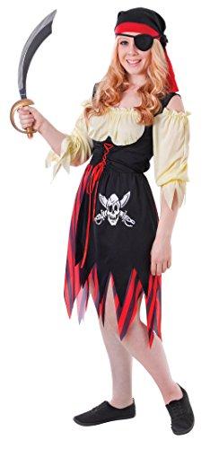 Uk 6-10 Teenage Girls Pirate Costume -