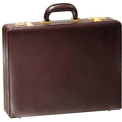 - Bellino Slim Leather Attaché Case Color: Burgundy