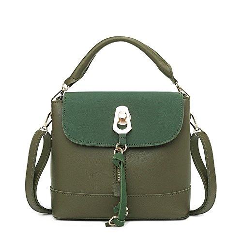 Green Dama Verde Para Moda Bolsa Retro Hombro La GWQGZ 8Sxw44